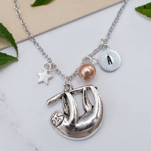 Personalised Sloth Charm Necklace