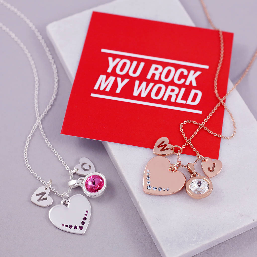 You Rock My World Heart Necklace