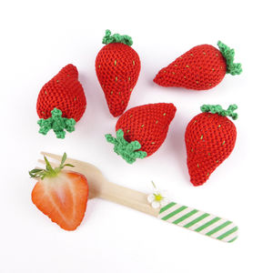 Strawberry Crocheted Toy - baby toys