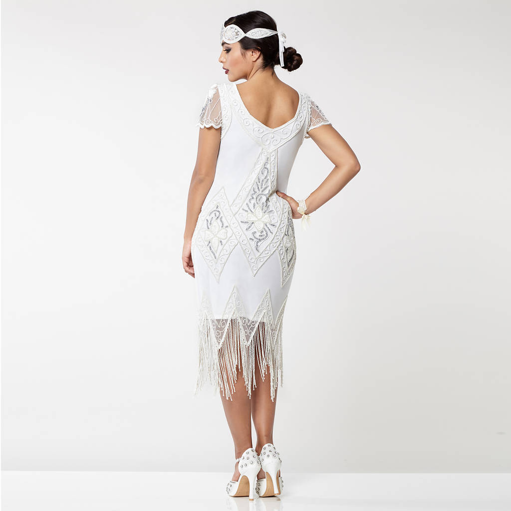 50c0d796bece26 gatsbylady annette fringe flapper dress in white silver by ...