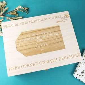 Personalised 'Special Delivery' Large Wooden Gift Box
