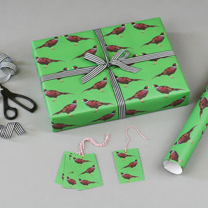 Pheasant Christmas Wrapping Paper - wrapping