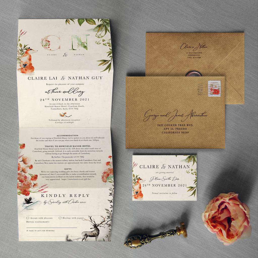 Wedding Video Invitation: Once Upon A Time Concertina Wedding Invitation By Feel