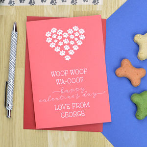 Valentine's Day Card From The Dog - cards & wrap