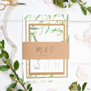 Botanical Wedding Stationery Sample Pack - save the date cards