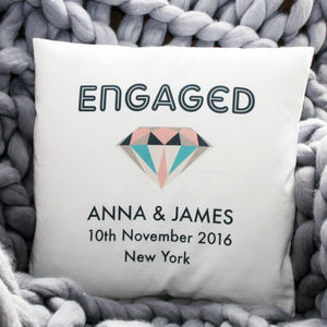 Personalised Engagement Cushion - living room