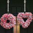 Pink Everlasting Christmas Door Wreath