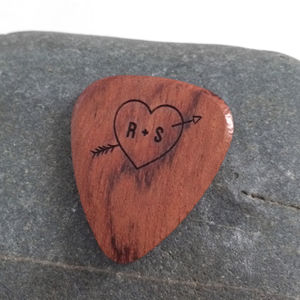 Personalised Heart And Arrow Plectrum - best valentine's gifts for him