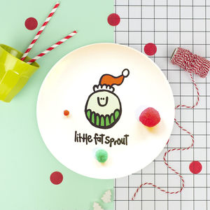 'Little Fat Sprout' Fun Christmas Plate