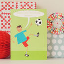 Personalised Football Birthday Card