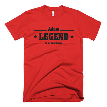 Personalised Legend Cotton Crewneck T Shirt