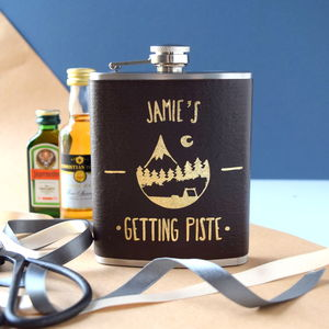 Personalised Getting Piste Skiing Hip Flask - hip flasks