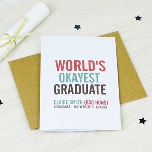 Personalised Graduation Card - graduation cards