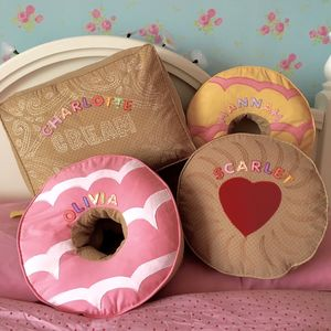 Biscuit Cushions Personalised - children's room