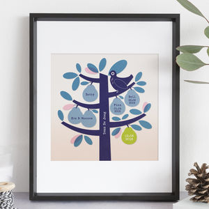 Personalised Pear Family Tree Print