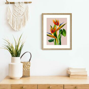 Birds Of Paradise Flower Print