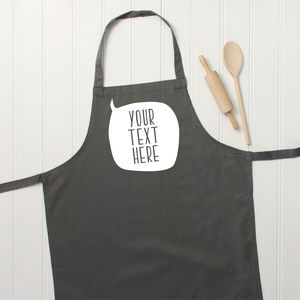 Personalised Speech Bubble Apron - kitchen