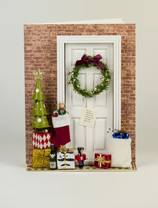 Christmas Door De Light Personalised Card - cards