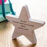 Personalised Wooden Star Keepsake - corporate gifts