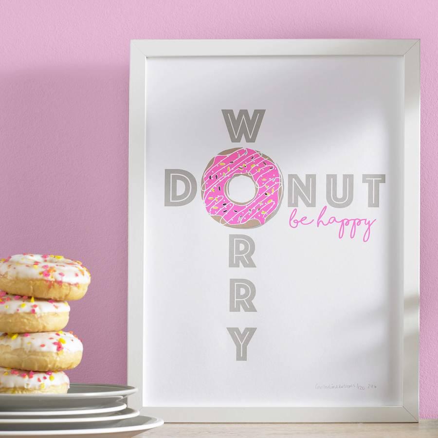 Original Donut Worry Be Happy