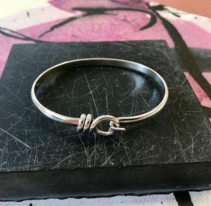 Bayswater Solid Sterling Silver Rope Bangle - bracelets & bangles