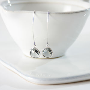 Faceted Glass Raindrop Earrings - jewellery