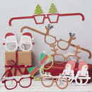 Festive Christmas Themed Funglasses Santa And Friends