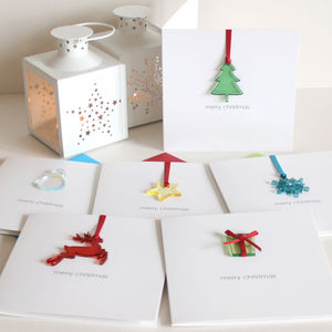 Pack Of Four Personalised Merry Christmas Cards - christmas card packs