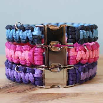 Personalised Two Tone Paracord Dog Collar