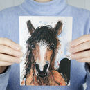 Wild Horse Art Greeting Card