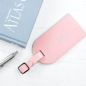 Personalised Pastel Leather Luggage Tag - new in fashion