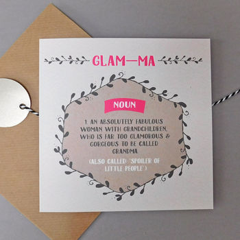 Glam Ma Grandma Mother's Day Card
