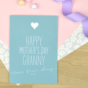 Personalised Mother's Day Card For Granny - mother's day cards & wrap