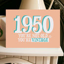 Birthday Year Card Vintage 1950s
