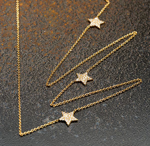 Gold Starburst Necklace With Slider Clasp - necklaces & pendants