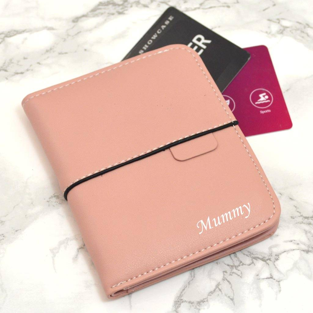 Personalised Pink Folding Wallet Gift For Mum