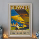 Vintage Sea Burns Philip Art Deco Travel Poster