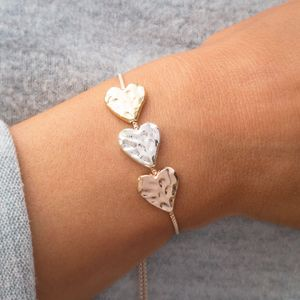 Alida Triple Heart Slider Bracelet - september birthstone