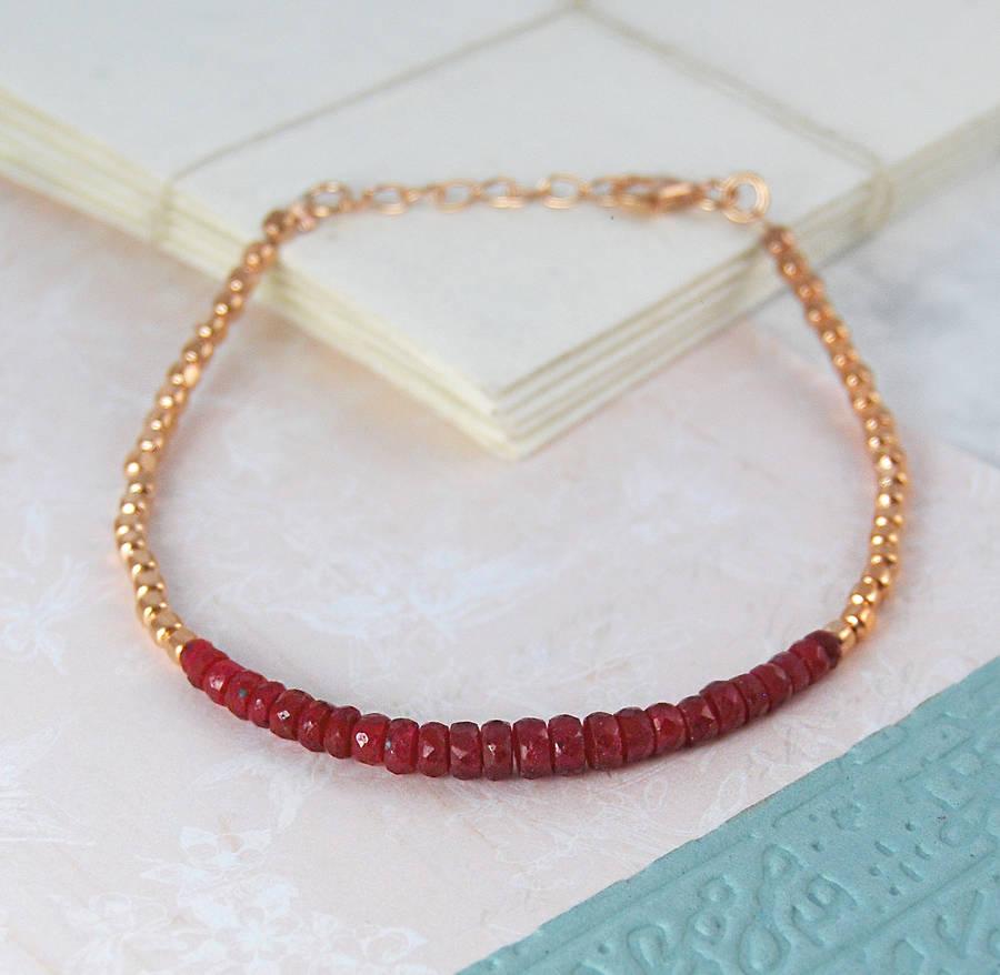 Birthstone Friendship Bracelets Rose Gold Bracelet