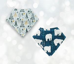 Christmas Tree And Polar Bear Bib Gift Set