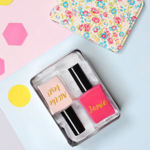 Personalised Nail Polishes In Ditsy Tin