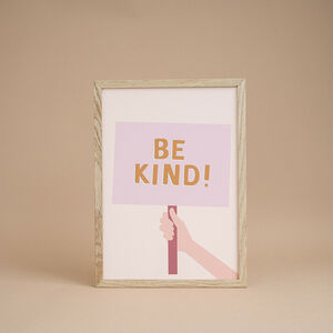 'Be Kind' Children's Print