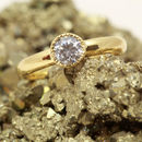 18ct Gold Solitaire Diamond 'Foreburn' Engagement Ring