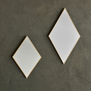 Antique Brass Diamond Mirror