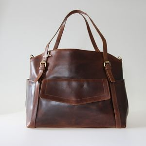 Adelaide Leather Pocket Shopper Tote