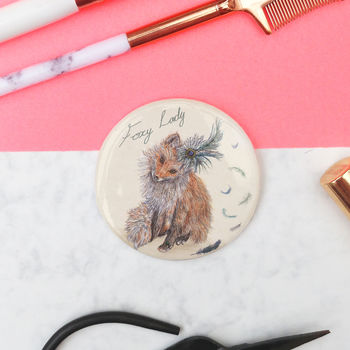 Sale 'Foxy Lady' Pocket Mirror