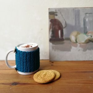 Mug With Organic Cotton Cosy And Coaster