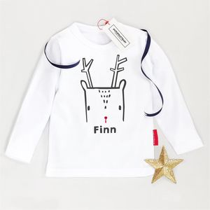 Kids Christmas Nordic Deer T Shirt - gifts for children