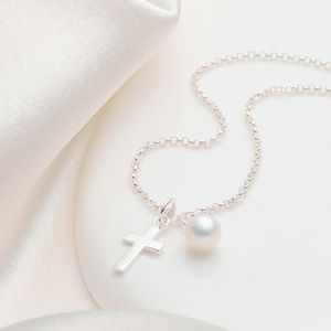 Christening Cross Necklace