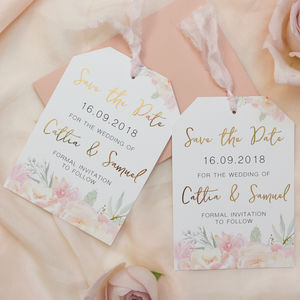 Floral Blush Save The Date - save the date cards
